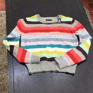 Gap kids striped sweater NWT